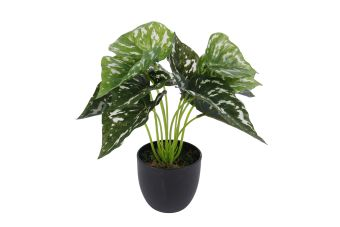 Kunstplant Aglaonema sunshine lime in pot green 26cm