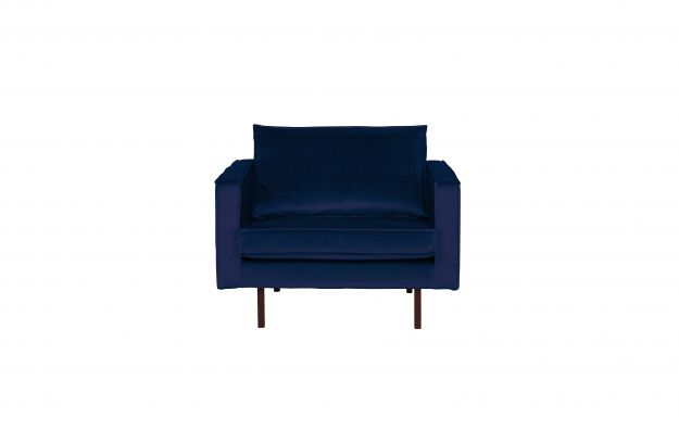 Rodeo Fauteuil Velvet Dark Blue Nightshade