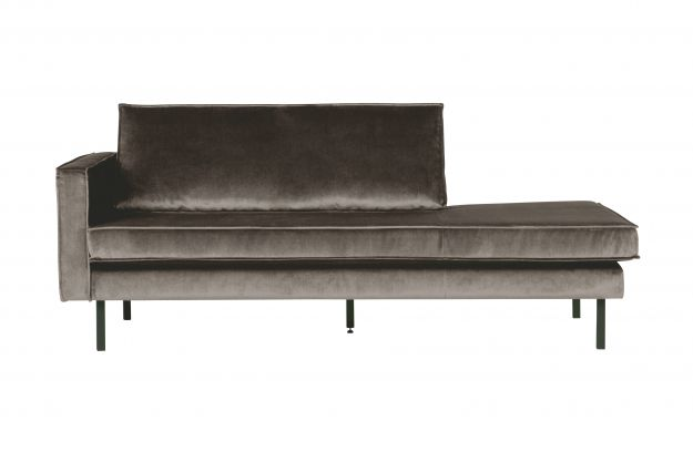 Rodeo Daybed Left Velvet Taupe