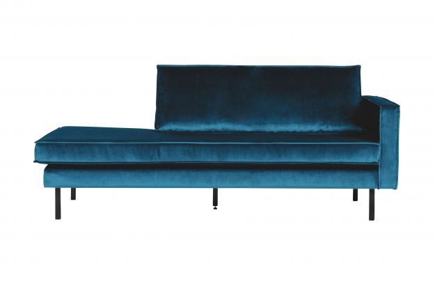 Rodeo Daybed Right Velvet Blue