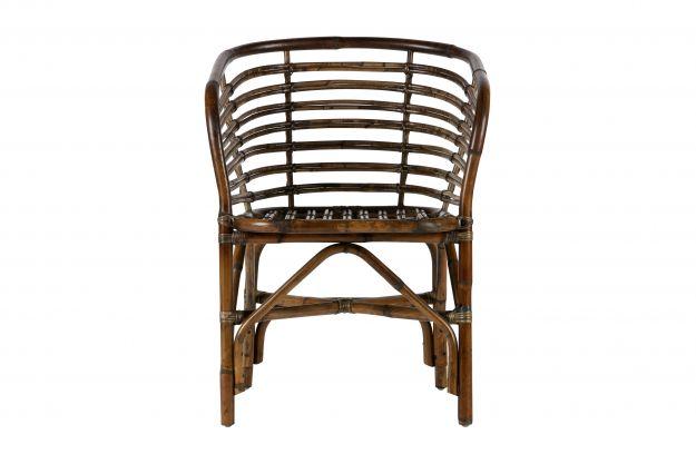 Fauteuils stoelen sanne eetkamerstoel rotan bruin for Eetkamerstoel fauteuil