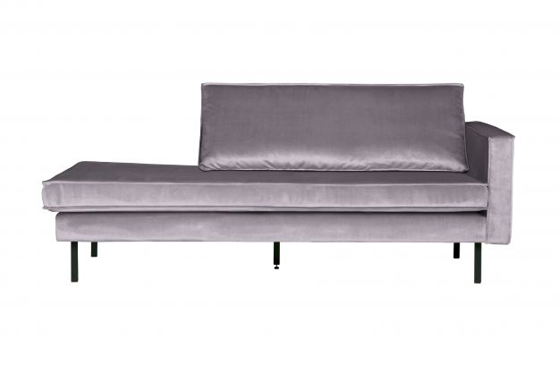Rodeo Daybed Right Velvet Light Grey