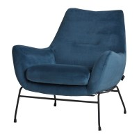 Chevy fauteuil mysons unique collection blauw velvet
