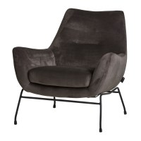 Fauteuil Chevy - Velvet Granite - Unique Collection