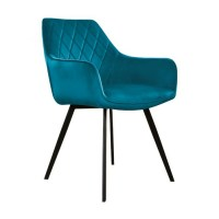 Kick Eetkamerstoel Karl Velvet - blauw kickcollection