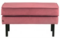 Rodeo Hocker Op Poten Velvet Pink