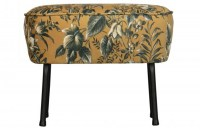 Vogue Hocker Fluweel Poppy Mosterd