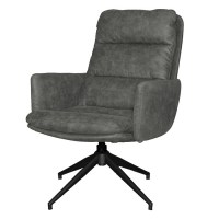 Draaifauteuil Bonemet arm Antraciet